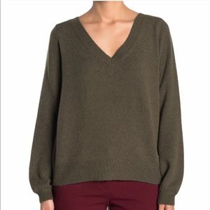 14TH & UNION Olive Cozy Two Way Pullover Sweater